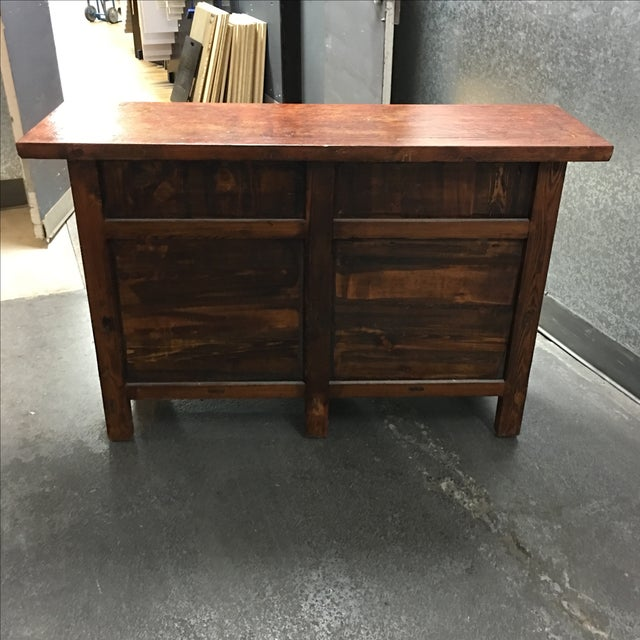 Vintage Asian-Style Distressed Sideboard - Image 4 of 8