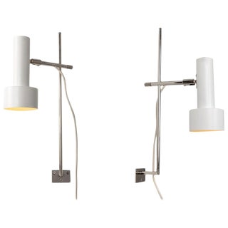 1960s Adjustable Wall Lights Attributed to Giuseppe Ostuni - a Pair For Sale