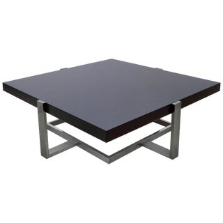 La Spada & Mazza for Medea Coffee Table in Palisades and Chrome, Italy For Sale