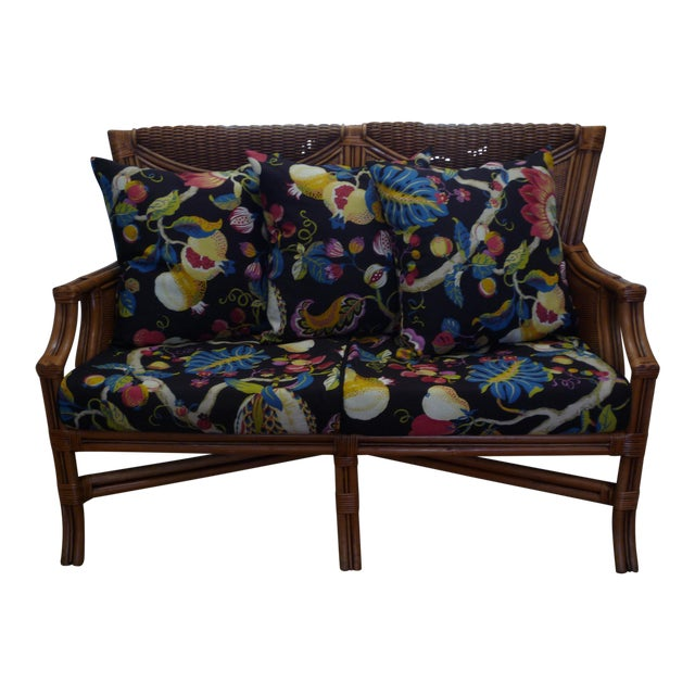 Tommy Bahama Style Bentwood Rattan Settee - Image 1 of 9