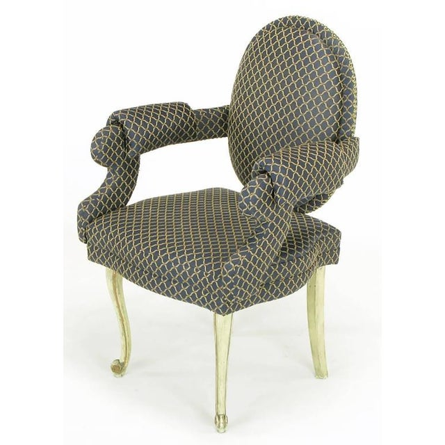 Four Louis Modern Custom Dining Armchairs - Image 3 of 9