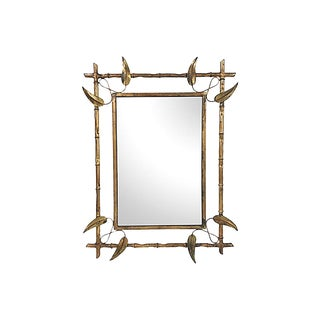 Spanish Gilded Leaf Wall Mirror For Sale