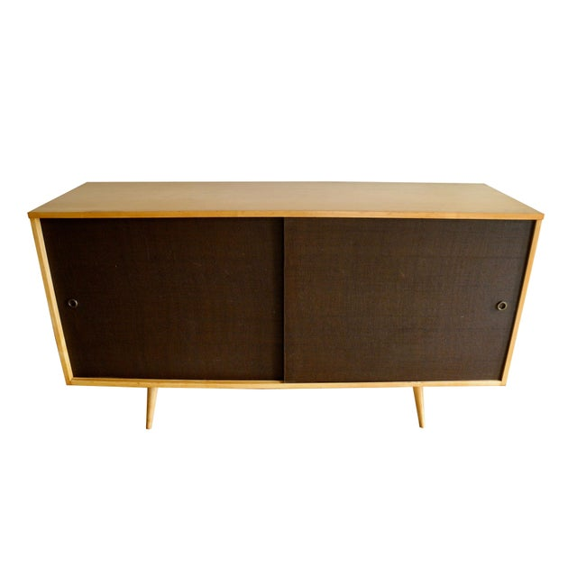 Wood 20th Century Modern Maple Storage Credenza / Sideboard With Shelf and Drawers by Paul McCobb For Sale - Image 7 of 13