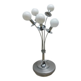 Mid-Century Chrome Orb Lamp For Sale
