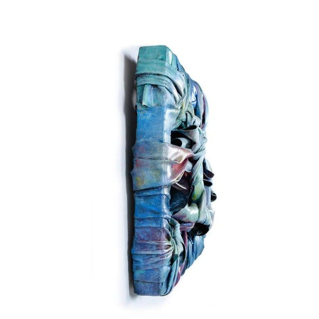 Modern Robert Patrick Painted Acrylic Over Vinyl Textile Fiber Art, 1991 For Sale - Image 3 of 7