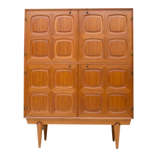 Graphic Teak Highboard by Rastad & Relling for Bahus, Norway 1960s For Sale
