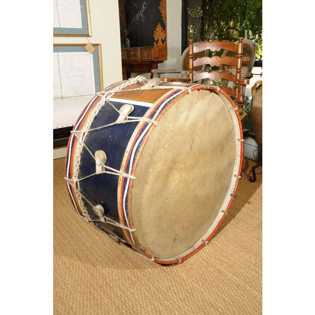 """Decorate to the beat of your own drum... This antique """"tambour"""" would be fabulous repurposed as a coffee table."""