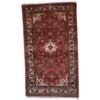 1970s Hand Made Vintage Persian Hamadan Rug - 2′4″ × 4′3″ For Sale