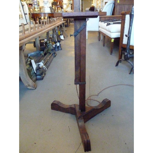 French 19th Century Adjustable Wooden Floor Lamp For Sale - Image 3 of 7