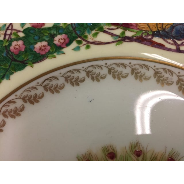 12 Wedgwood Peacock Plates Handpainted For Sale In San Francisco - Image 6 of 11