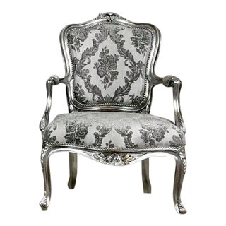 Vintage Reproduction Victorian French Chair For Sale