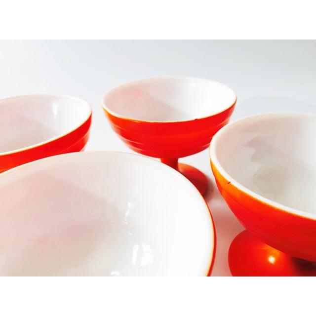 Vintage Orange Coupe Cocktail Glasses- Set of 4 - Image 5 of 5