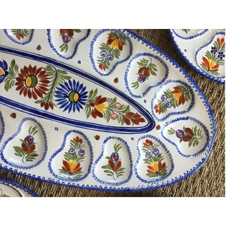 Mid 20th Century Quimper Faïence Oyster Service - Set of 7 Preview