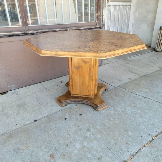 Vintage Modern Wood Dining Table For Sale - Image 10 of 13