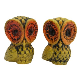 Vintage Owl Salt & Peppers Shakers For Sale
