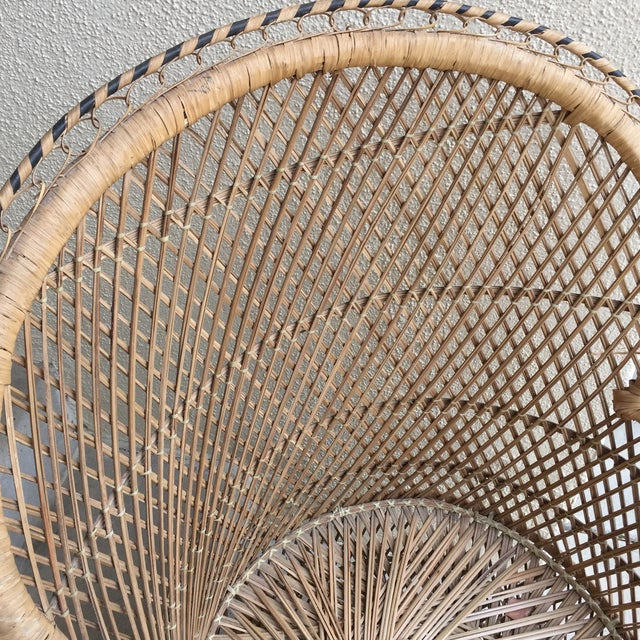Vintage Boho Chic Wicker Chair - Image 5 of 10