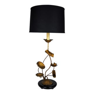 Large Lotus Blossom Table Lamp For Sale