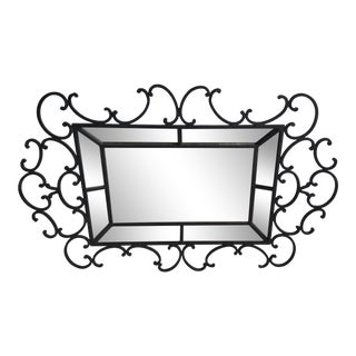 Whimsical Fantasy Design Oversized Wrought Iron Mirror For Sale