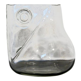 Mid-Century Modern Signed Alfredo Barbini Murano Glass Art Vase Pitcher, Italy For Sale
