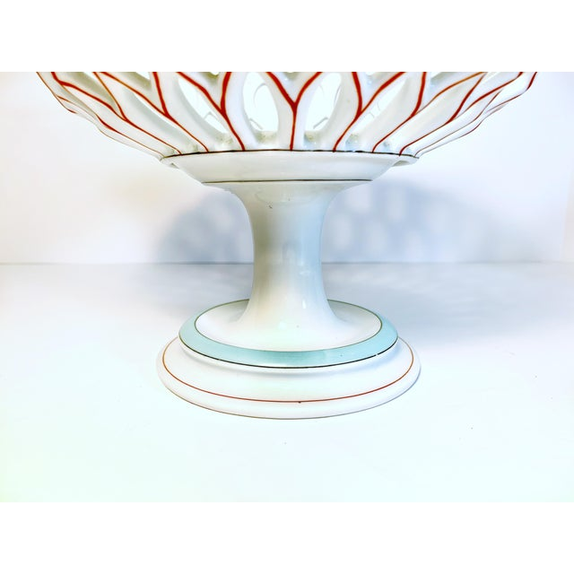 Late 19th Century Antique Samson & Cie French Porcelain Neoclassical Centerpiece, Late 19th Century For Sale - Image 5 of 12