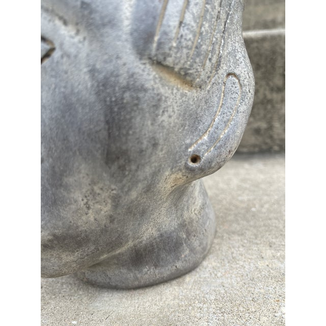 Stone Large Terracotta Mayan Sculptural Head For Sale - Image 7 of 8