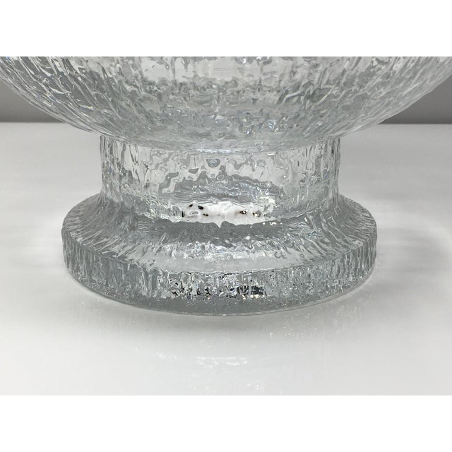 Mid 20th Century Timo Sarpaneva Kekkerit Footed Glass Bowl for Iittala Finland For Sale - Image 10 of 12