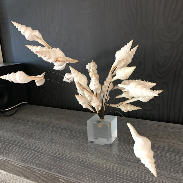 Seashell Bouquet Sculpture - Image 4 of 8