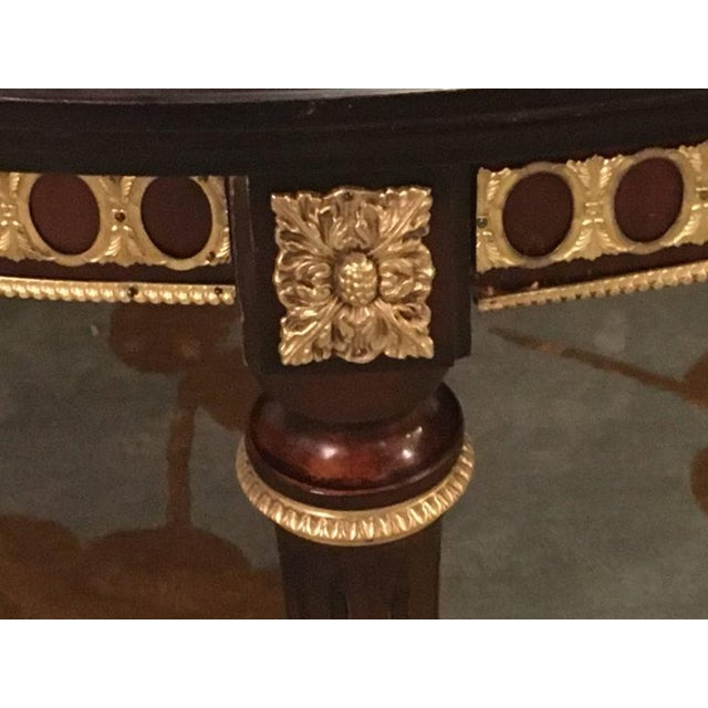 1930s Louis XVI Style Bronze Mounted Dining Room Table For Sale - Image 5 of 8
