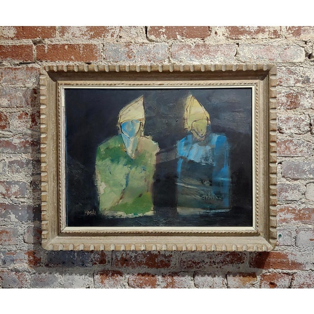 Robert Moesle -Two Abstract and Surreal Figures -Oil Painting For Sale - Image 11 of 11