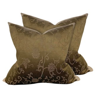 19th Century Chinese Silk Pillows - a Pair For Sale
