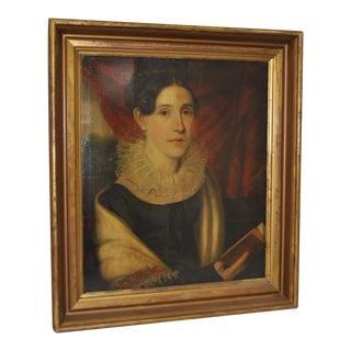 Antique Oil Portrait of a Lady