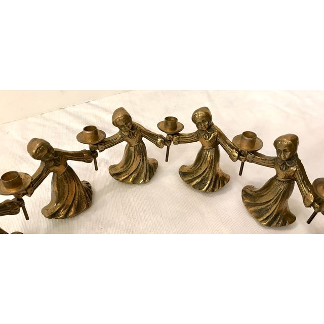 Vintage Ladies Dancing Candle Holders - Set of 10 For Sale In Dallas - Image 6 of 10
