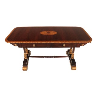 English Rosewood Writing Table