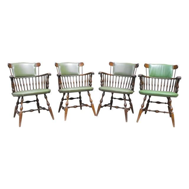 Nichols & Stone Arm Chairs - Set of 4 - Image 1 of 8