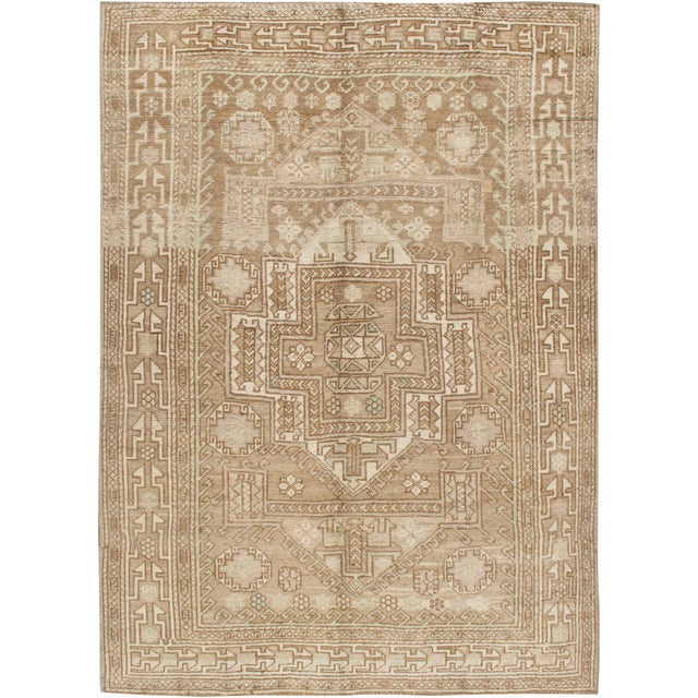 Vintage Turkish Oushak Rug 5'9 X 8'4 For Sale In New York - Image 6 of 6