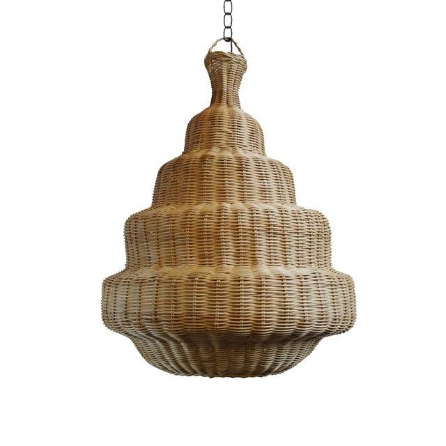 Rattan Madras Lantern Medium For Sale - Image 4 of 4