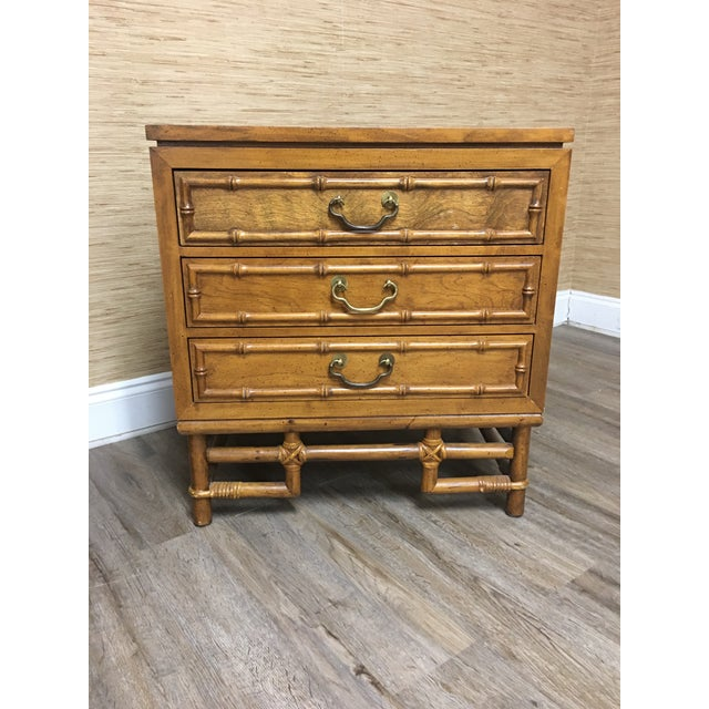 Ficks Reed Faux Bamboo Nightstands-A Pair - Solid Hardwood Construction For Sale In Raleigh - Image 6 of 9