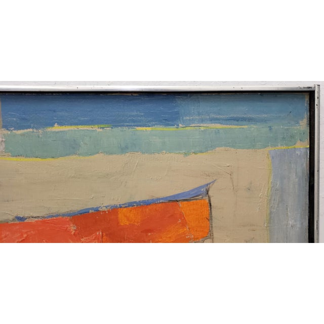 Mid 20th Century Mid Century Abstract Still Life Oil Painting by Francisco Ferro C.1960 For Sale - Image 5 of 8