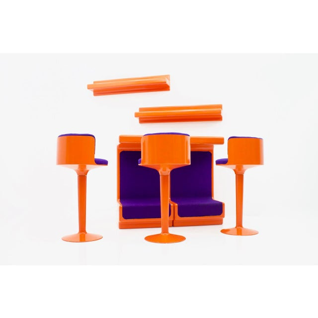 Mid-Century Modern Fiberglass Bar Set by Wolfgang Feierbach, Germany 1974 For Sale - Image 3 of 10