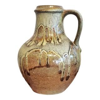 Carstens Tönnieshof Jug Vase With Green Lava Glaze Nr 7056/25 For Sale