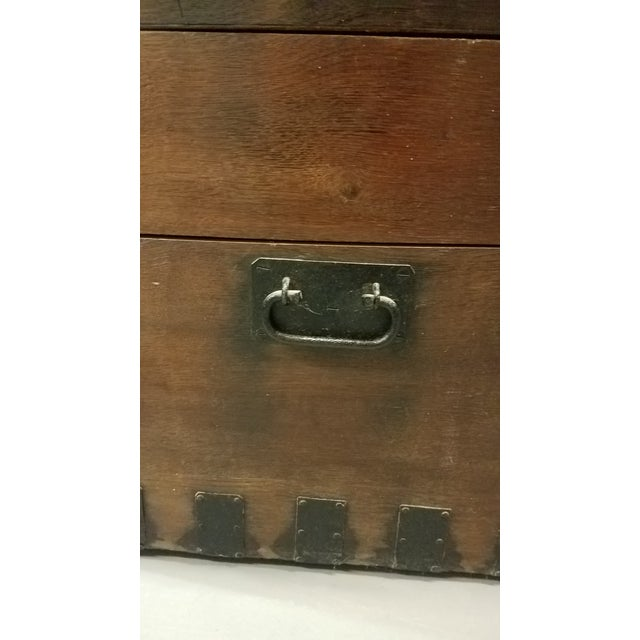 Late 1800s Oak Silver Trunk For Sale - Image 9 of 13