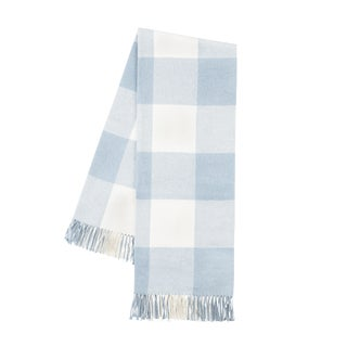 Baby Blue Buffalo Check Throw For Sale