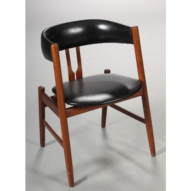 Rare Danish Armchair in the Style of Kai Kristiansen For Sale - Image 4 of 8