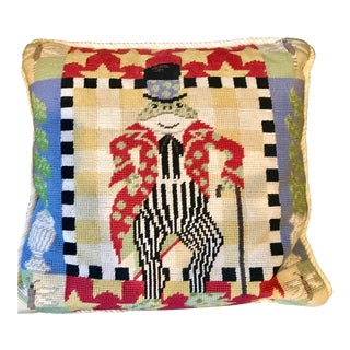 Mr. Toad Needlepoint Pillow For Sale