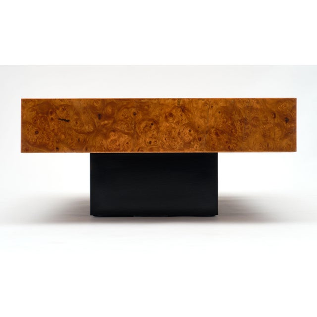 Mid-Century Burl Ash Coffee Table For Sale In Austin - Image 6 of 10