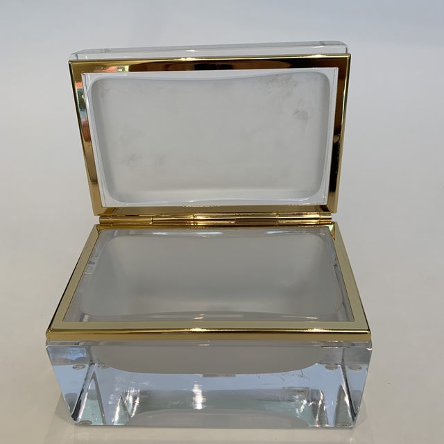 21st Century Murano White Crystal Jewel Box by Mandruzzato For Sale In Los Angeles - Image 6 of 10