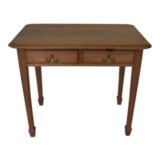 English Victorian Pine Work Side Table For Sale