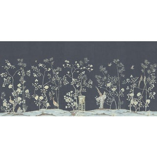 "Casa Cosima Graphite Brighton Wallpaper Mural - 5 Panels 180"" W X 96"" H For Sale"