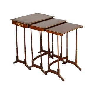 19th-Century French Mahogany Nesting Tables - Set of 3 For Sale