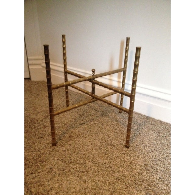 Antique Brass Bamboo Tray Table For Sale - Image 7 of 7
